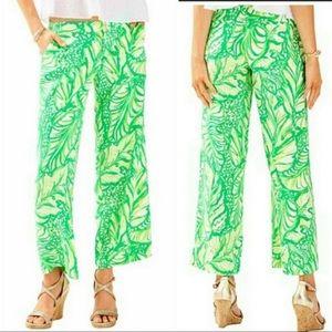 "Lilly Pulitzer ""Lela"" wide leg cropped pants"